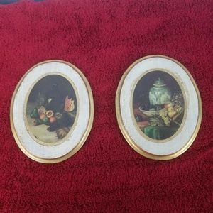 Other - Vintage Still LIfe Mid Century Lot of 2 Wall Hang